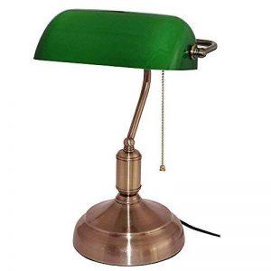 Lampe de Banquier - Verre Opaline - 38 CM - Chaînette de la marque smartsupp image 0 produit