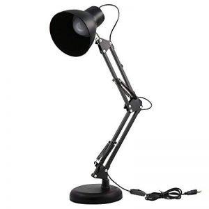 Lampe de Bureau, Brilex Classique Noir Lampe de Bureau 5W Lampe de Table LED Luminosité Élevée Luminosité Ajustable USB pour le Bureau de Chambre à Coucher et plus. de la marque Brilex image 0 produit