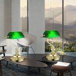 Lampe de bureau des lampe banquiers de la lampe antique table rétro nostalgique en vert antique 2491 K de la marque GLOBO LIGHTING image 4 produit