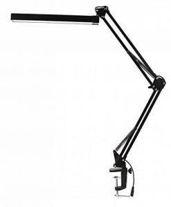 Lampe de Bureau Dimmable LED - KANARS Lampe de Table Architecte Pliable avec Clamp - 740 LM - Bras Pivotant en Métal - Protection des Yeux - 3 Niveaux de Luminosité Ajustable - 7.4 Watt - Noir de la marque KANARS image 0 produit