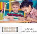 Lampe de Bureau et de Chevet à Led avec Stepless Variateur Tactile - Idéal pour Enfant Chevet - Portable et Rechargeable - Pliable à 180° - Autonomie de 8 Heures - 3 Types de Lumière (V2017-DE) de la marque BAYORK image 1 produit