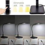 Lampe de Bureau LED Noir Flexible Metal Lampe de Chevet a Poser de Table Dimmable Tactile 5W LED Dimmable 3 Luminosité Éclairage Blanc Froid 5000K de Enuotek de la marque ENUOTEK image 1 produit