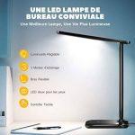 Lampe de Bureau LED, TOPELEK 42 LED Lampe de Chevet Tactile Flexible avec Adaptateur Chargeur USB 3 Modes de Couleur & 3 Niveaux de Luminosité Soin des Yeux Lampe de Table pour Travail, Lecture, Etudes - Noir de la marque TOPELEK image 1 produit