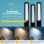 Lampe de Bureau LED, TOPELEK 42 LED Lampe de Chevet Tactile Flexible avec Adaptateur Chargeur USB 3 Modes de Couleur & 3 Niveaux de Luminosité Soin des Yeux Lampe de Table pour Travail, Lecture, Etudes - Noir de la marque TOPELEK image 3 produit