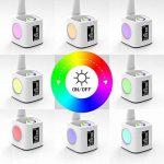 Lampe de bureau LED YOUKOYI avec Port de Recharge USB pour l'étude, Lampe de bureau à 3 niveaux de luminosité réglables avec Réveil, Veilleuse colorée, Contrôle tactile, Porte-stylo, Thermomètre, Calendrier, 8W 2A de la marque YOUKOYI image 4 produit