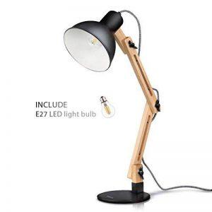 lampe de bureau noire design TOP 1 image 0 produit