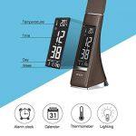 Lampe de bureau Wilit U2 LED - 5 W - Intensité variable - Avec réveil, calendrier, horloge, affichage de la température - Lampe de chevet avec 3 niveaux de luminosité réglables de la marque WILIT image 3 produit