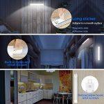 Lampe de Cabinet, GBlife 18 LEDs Lampe Détecteur de Mouvement Veilleurse sans Fil USB Rechargeable, Lumière Blanche, Éclairages de Sécurité pour Armoire Garde-Robe Escalier Couloir, 2pcs de la marque GBlife image 2 produit