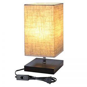 lampe de chevet abat jour rectangulaire TOP 10 image 0 produit