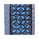 Lampe de chevet artisanale H30cm fer forgé et tissu bleu turquoise de la marque Artisanal image 2 produit