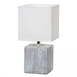 Lampe de chevet avec abat-jour en tissu et pied en céramique Gris (lampe de table, lampe pour chambre) de la marque Esto image 0 produit