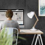 lampe de chevet bois et blanc TOP 2 image 4 produit