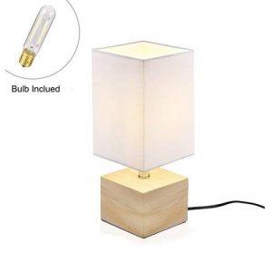 lampe de chevet bois et blanc TOP 7 image 0 produit