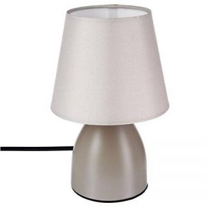 Lampe de chevet déco 19cm - Couleur taupe de la marque Atmosphera image 0 produit
