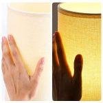 Lampe de chevet en bois Petit rond vintage avec abat-jour beige et lampe de bureau E27 LED style maison de campagne de la marque HAMLITE image 4 produit