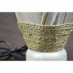 Lampe de chevet ethnique chic en feuilles de cocotier. fabrication artisanale. de la marque Artisanal image 4 produit
