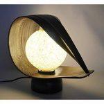 Lampe de chevet ethnique en feuilles de cocotier. Décoration Zen chambre à coucher. de la marque Artisanal image 1 produit