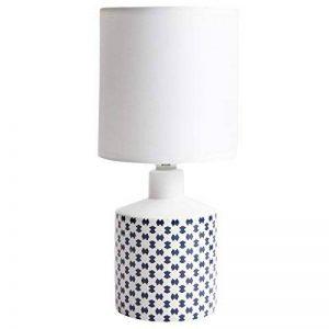 Lampe de chevet GISELE céramique motif bleu marine 29x14cm de la marque LUSSIOL image 0 produit