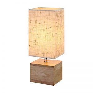 Lampe de chevet, HHome Plus lampe de bureau en bois minimaliste pour chambre à coucher, salon, chambre d'enfants, bureau, bureau de la marque HHome Plus image 0 produit