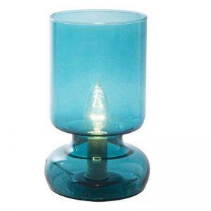Lampe de chevet, Lampe à poser Stilo, diam 12,5 cm H 24 cm, en verre turquoise E14 – maxi 40W de la marque LUSSIOL image 0 produit