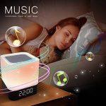 Lampe de Chevet LED, StillCool Capteur tactile Lampe de table, Multicolore Dimmable Lumière de nuit avec haut-parleur Bluetooth,réveil Fente pour carte TF,Mains libres&fonction de temporisation (Haut-parleur Bluetooth) de la marque StillCool image 2 produit