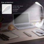 Lampe de Chevet LED, USB Rechargeable Sans Fil 3 Niveaux de Luminosité Contrôle Tactile, 5500K Blanc du Jour Lampe de Lecture Lumière Yeux Protégés, Lampe de Table avec Col de Cygne Flexible Blanche de la marque EECOO image 2 produit