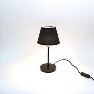 Lampe de Chevet- Noir - idéal Salon, Chambre - PERCCU de la marque Meubletmoi image 0 produit