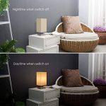 Lampe de chevet, teckin Plastique Lampe de bureau minimaliste, lampe de table de nuit en métal avec abat-jour en tissu pour chambre à coucher, table basse and Bureau Ampoule LED (incluse) de la marque TECKIN image 3 produit