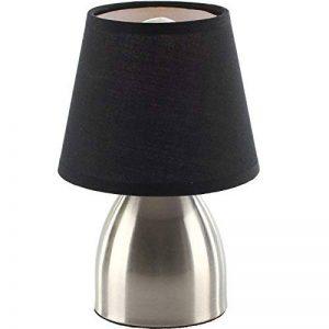 LAMPE DE CHEVET TOUCH PIED METAL ABAT JOUR NOIR de la marque Générique image 0 produit