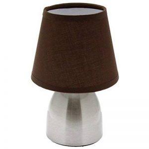 Lampe de chevet touch - tactile 3 intensités lumineuses - E14 - s'allume au toucher - marron de la marque AC-Déco image 0 produit