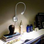 Lampe de lecture, 2 lumières de lit à LED, Montée sur le mur à côté des lampes en aluminium, Veilleuse filaire, Applique, lampe d'éclairage pour Chambre / bureau / étude / affichage, blanc chaud, 200 Lumen / 3000K / 3W / 110-240V AC, Angle de faisceau : 3 image 1 produit