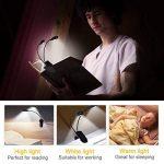 Lampe de Lecture Clipsable 14LEDs 3Couleurs 9Modes Luminosité Réglable, Lampe Clip Veilleuse USB Rechargeable Sans Fil Portable et Flexible pour Liseuse Numerique Travail Voyage Lecture de Nuit de la marque EECOO image 4 produit