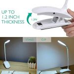 Lampe de Lecture Led Pour Livre - Lampe de Bureau à Pince Rechargeable avec Câble USB, 3 Niveaux de Luminosité au Choix - Blanc de la marque Sunnest image 3 produit