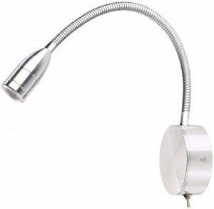 Lampe de lecture murale à LED 3 W et col de cygne - blanc chaud de la marque Lunartec image 0 produit