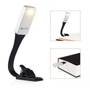 Lampe de lecture OxyLED Lampe de lecture - Lampe de lecture - Éclairage de lit avec 3 niveaux de luminosité - Flexible et USB rechargeable - Lampe à pince pour chambre, lecture, apprentissage - Travail - Classe énergétique A + + de la marque OXYLED image 0 produit