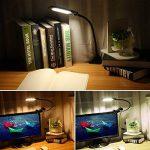 Lampe de Lecture OxyLED T33 Lampe de Table Soin des Yeux/Lampe de Bureau/Lampe-Clips/ Lampe LED Avec Pince, Lumière Réglable USB Alimenté 2 Niveaux de Luminosité et 3 Couleurs Lumineuses,Noir de la marque OXYLED image 4 produit