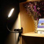 Lampe de Lecture OxyLED T33 Lampe de Table Soin des Yeux/Lampe de Bureau/Lampe-Clips/ Lampe LED Avec Pince, Lumière Réglable USB Alimenté 2 Niveaux de Luminosité et 3 Couleurs Lumineuses,Noir de la marque OXYLED image 2 produit