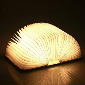 Lampe delecture pliante, rechargeable par USB, lumière LED magnétique en bois, lumières décoratives, lampe de table, lampe de bureau avec batterie lithium 880 mAh de la marque MonoDeal image 0 produit