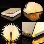 Lampe delecture pliante, rechargeable par USB, lumière LED magnétique en bois, lumières décoratives, lampe de table, lampe de bureau avec batterie lithium 880 mAh de la marque MonoDeal image 3 produit