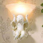 Lampe de mur rétro créative, style européen a mené la lumière de parenthèse, lampe de chevet de chambre à coucher, hôtel lampe d'ange de KTV 330 * 300 * 270 (millimètre) XIAOXAIO de la marque HEFEI image 4 produit