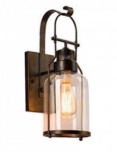 lampe de mur rural chambre couloir chevet en verre Creative bar de style rétro éclairage industriel de la marque Wall lamp image 0 produit