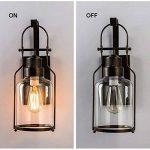 lampe de mur rural chambre couloir chevet en verre Creative bar de style rétro éclairage industriel de la marque Wall lamp image 3 produit
