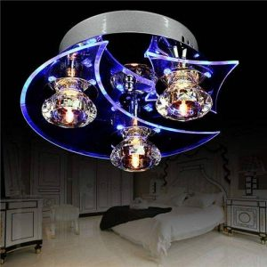 Lampe de Plafonnier en Cristal Etoiles Lune Lustres Lampe de plafond LED Pour Couloir Bar Salle à Manger Chambre d'Enfants de la marque Gimify image 0 produit