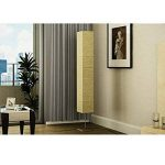 Lampe de salon en papier de riz sur pied aluminium brossé 22 x 22 x 170cm (L x l x h) lampe de pied salon de la marque SENLUOWX image 1 produit