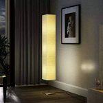 Lampe de salon en papier de riz sur pied aluminium brossé 22 x 22 x 170cm (L x l x h) lampe de pied salon de la marque SENLUOWX image 3 produit