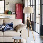 Lampe de sol à 1 lumière Tripode, salon Simple moderne Chambre à poser verticale: couleur de lin ( Couleur : A ) de la marque LWF image 2 produit