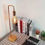 Lampe de table/bureau - Cadre en métal, base en bois, E27 Max 40W - Grandes décorations pour chevet, salon, bureau et dortoir. de la marque FADACI image 3 produit