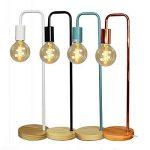 Lampe de table/bureau - Cadre en métal, base en bois, E27 Max 40W - Grandes décorations pour chevet, salon, bureau et dortoir. de la marque FADACI image 4 produit