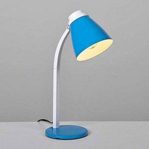 """§§ Lampe de table, bureau, chevet, à poser. Design Moderne""""STUDY"""" en Bleu/Blanc. Orientable de la marque MSUN image 0 produit"""