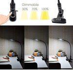 Lampe de Table Bureau Lampe de Chevet a LED Dimmable Tactile Noir à Pince Lampe de Travail LED Bureau à Clipser, Dimmable 3 Luminosité, Matériau Métallique de Enuotek de la marque ENUOTEK image 1 produit